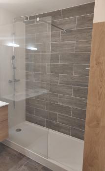 Salle de bain bois clair Essonne 91