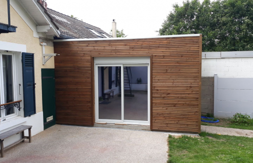 Extension ossature bois couvertine blanche (91)