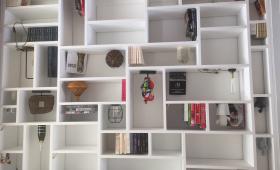 Mur décoratif bibliothèque sur mesure
