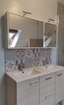 Rénovation salle de bain carreaux de ciment Essonne