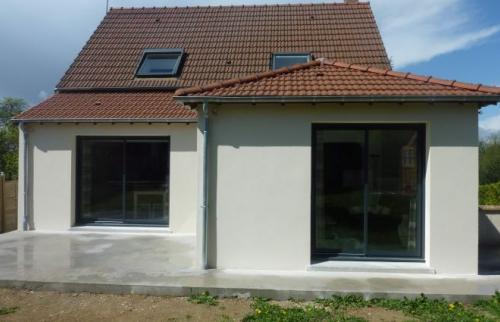 Extension avec toiture 3 pans